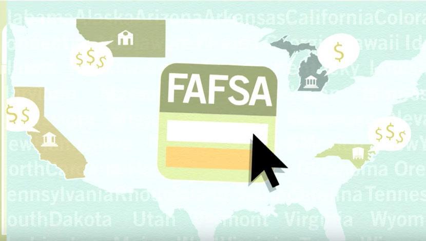查看这段视频,了解联邦学生援助免费申请(FAFSA)如何让你获得赠款, 贷款和勤工俭学的工作可以帮助你支付学费.