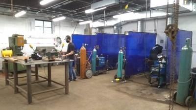 Inside view of the Metal Shop