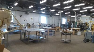 Inside view of the Wood Shop