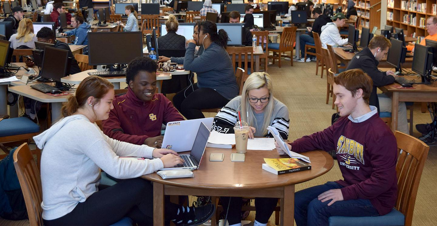 students studying in GAC