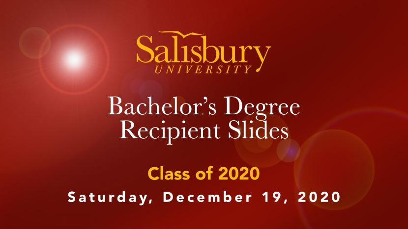SU Class of 2020 Slideshow: Bachelor's Degree Recipients Cover