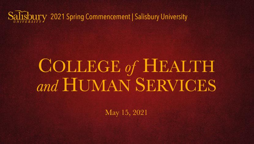 College of Health and Human Services Commencement Banner