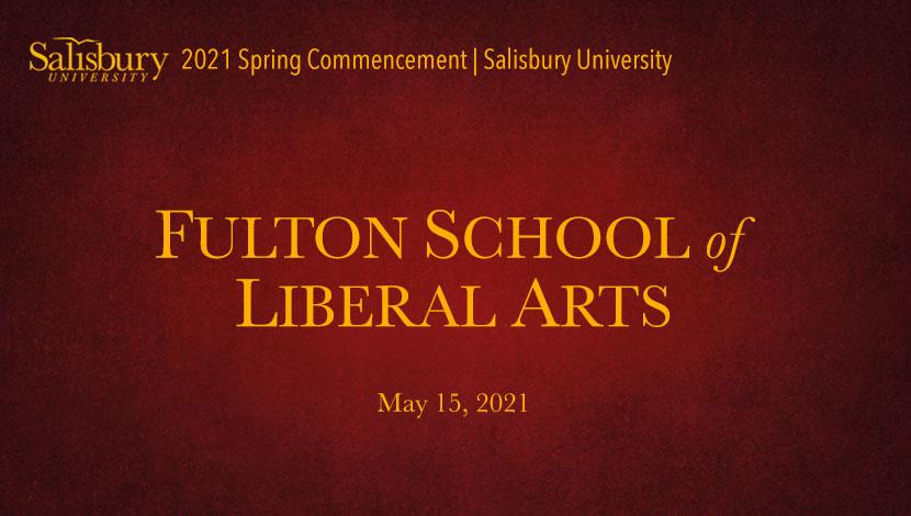 Fulton School of Liberal Arts Commencement Banner