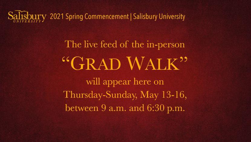 Grad Walk Live Stream Placeholder Image