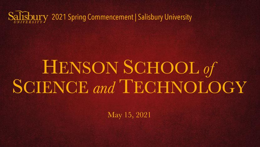 Henson School of Science and Technology Commencement Banner