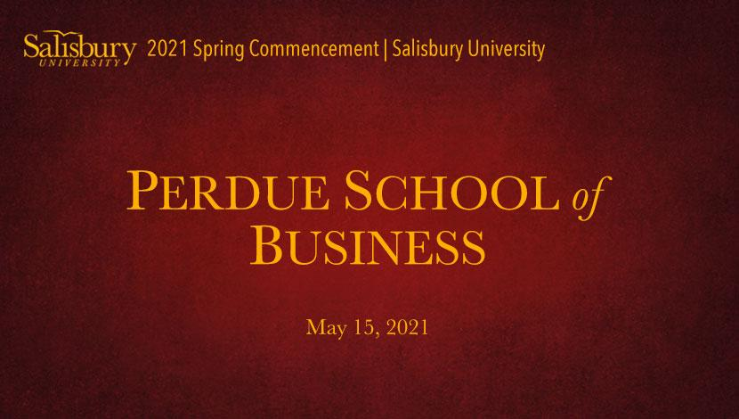 Perdue School of Business Commencement Banner