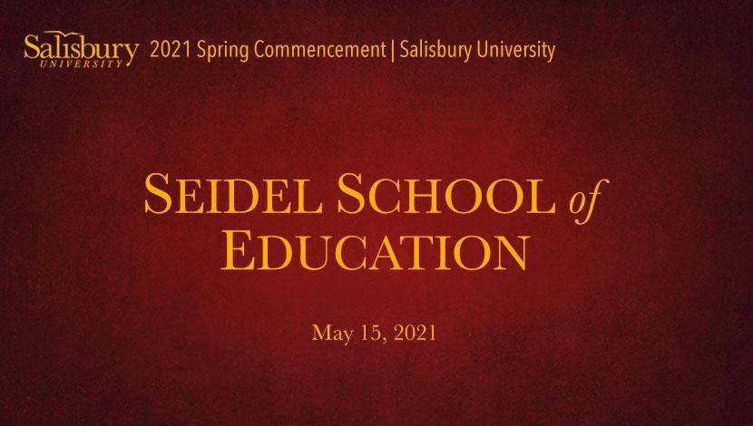 Seidel School of Education Banner