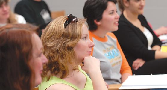 Graduate Students sit in on a lecture