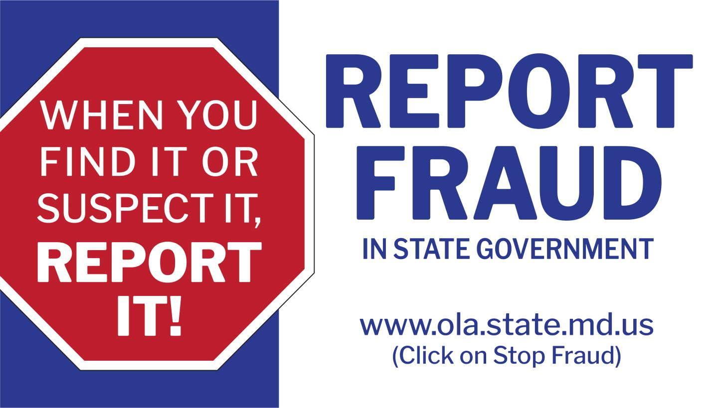 Stop Fraud in state government. When you find it or suspect it, report it!
