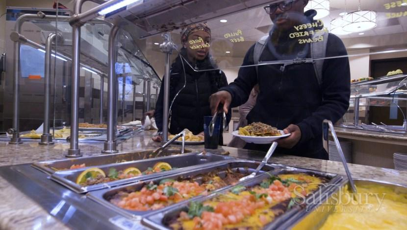 Inside look at the Commons Dining Hall Serving Food