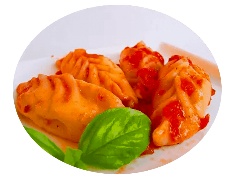 Italian perogies on a plate