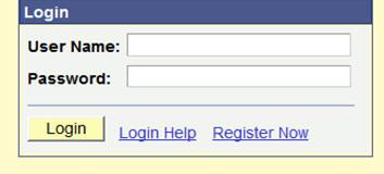 Example of Login screen for Online Employment Application System