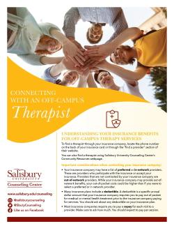 Connecting with off-campus therapist flyer cover