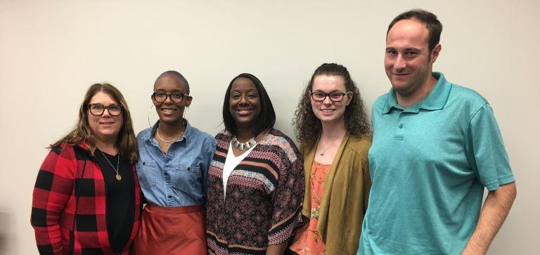 Five Salisbury University Community Members pose for picture