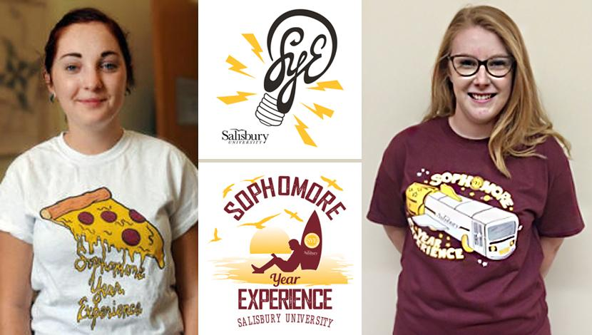 Student winners of the SYE t-shirt competition