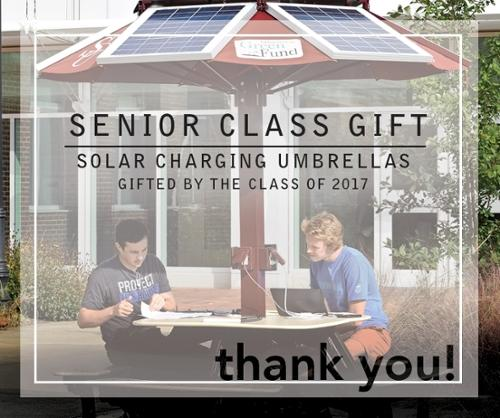 2017 Senior Class Gift: Solar Charging Umbrellas