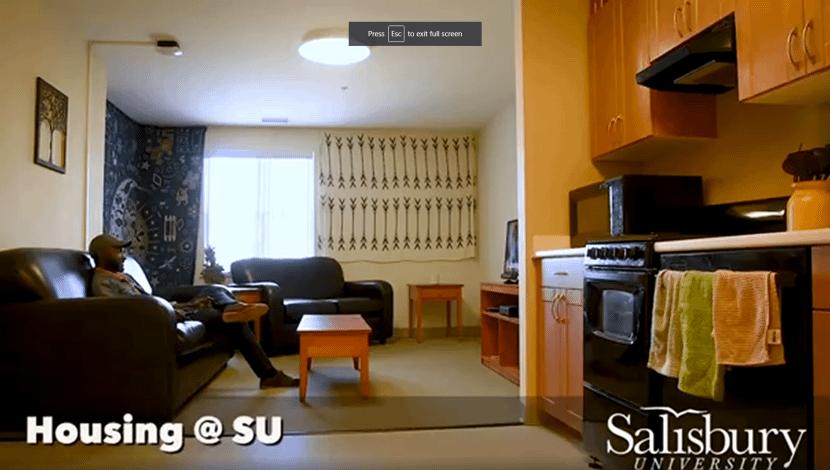 Housing at Salisbury University still shot