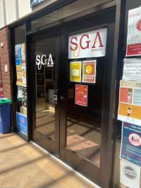 Outside door of SGA offices