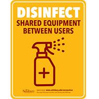 Disinfect Equipment rate Safety Signage Thumbnail
