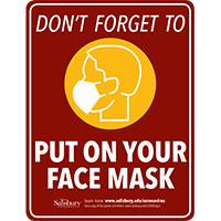 Please put on your face mask Safety Signage Thumbnail