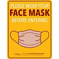 Please Wear Face Mask Before Entering Safety Signage Thumbnail