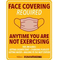 Workout Face Mask Safety Signage Thumbnail