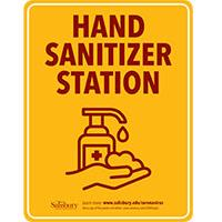 Hand Sanitizer Station Safety Signage Thumbnail