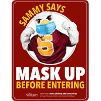 Sammy Says Mask Up Safety Signage Thumbnail