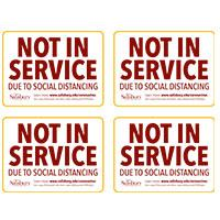 Not In Service Quater Safety Signage Thumbnail