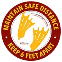 "Safe Distance Circle (10.5"") Safety Signage Thumbnail"