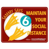Maintain Your Social Distance Safety Signage Horizontal Thumbnail
