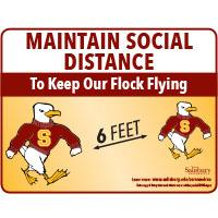 Maintain Social Distancing 6 feet Safety Signage Horizontal Thumbnail