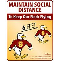 Maintain Social Distancing 6 feet Safety Signage Thumbnail