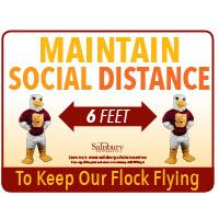 Maintain Social Distance Safety Signage Horizontal Thumbnail