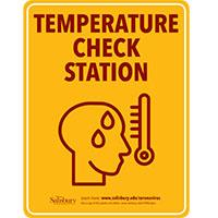 Temperature Check Safety Signage Thumbnail