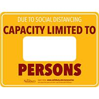 Capacity Limit Safety Signage Horizontal Thumbnail