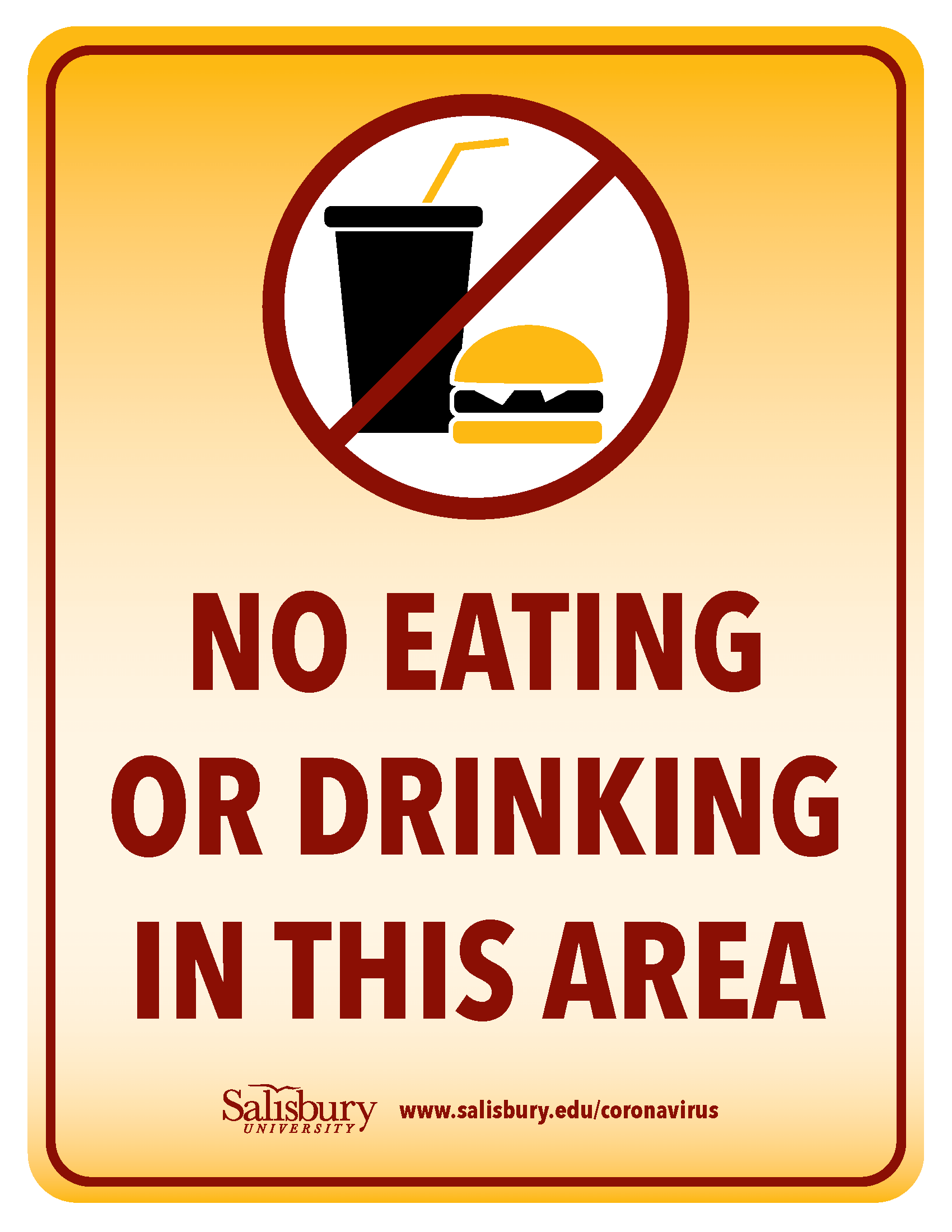No Food & Drinks in this Area