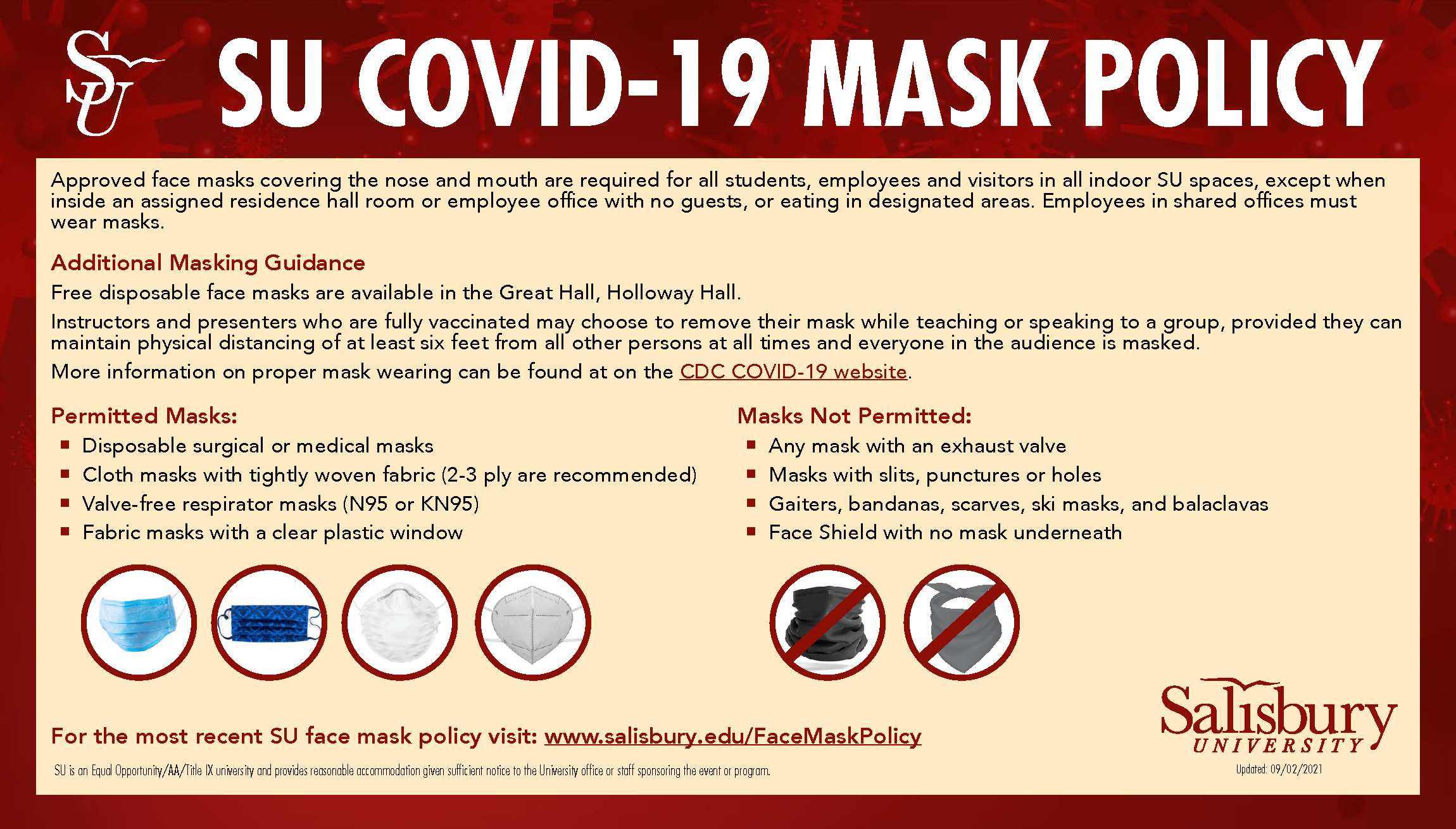COVID Face Mask Policy