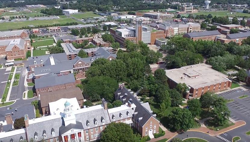 Drone over Salisbury University
