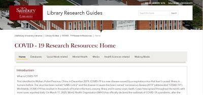 COVID-19 Research Resources: Home