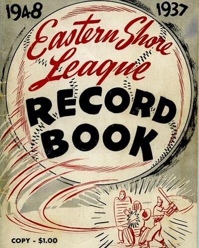 Eastern Shore League Record Book Cover 1937-1948
