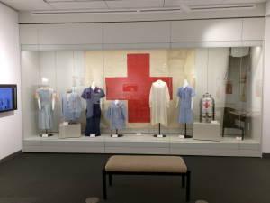 Exhibit Red Cross uniforms